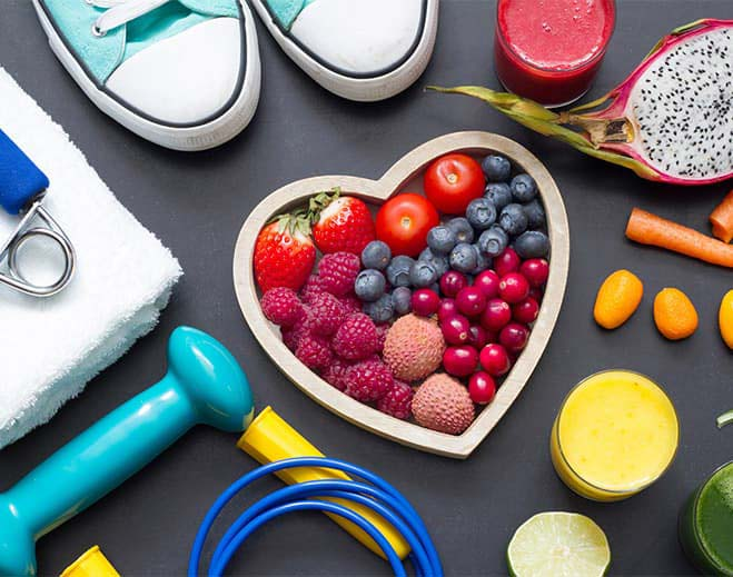 heart healthy food and exercise